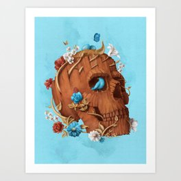 Skull Tree Art Print