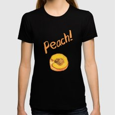 Peach Womens Fitted Tee SMALL Black