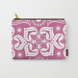 Paisley Design Pink Carry-All Pouch