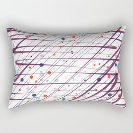 Maroon Splatter Pattern Rectangular Pillow