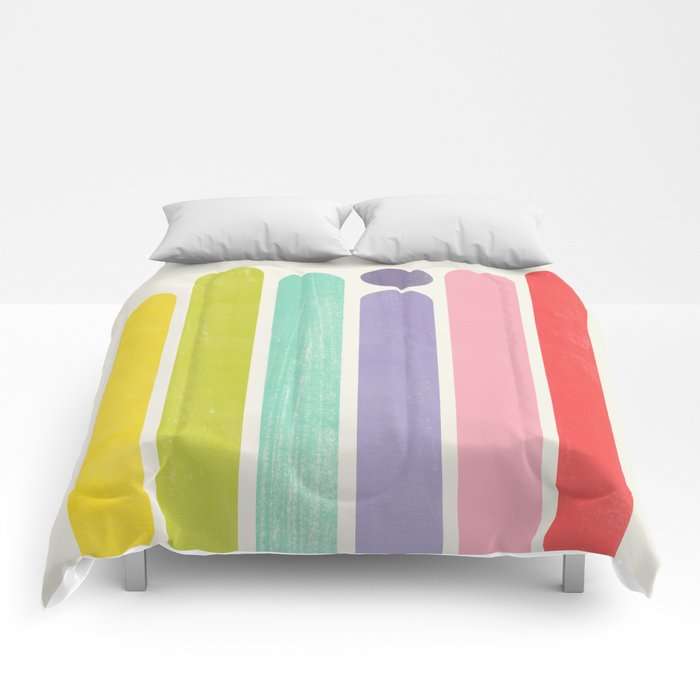 Rainbow Color Stripes Comforters
