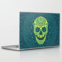 sugar skull Laptop & iPad Skins featuring Sugar skull by Julia Badeeva