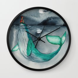 Pinocchio and the whale Tondo Wall Clock