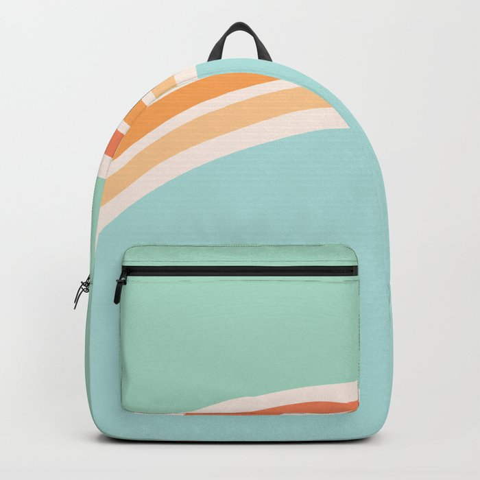 one day – mint, blue and peach Backpack