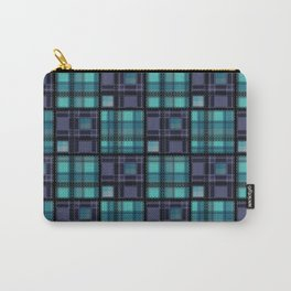 Blue purple colorful checkered pattern . Carry-All Pouch