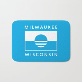 Milwaukee Wisconsin - Cyan - People's Flag of Milwaukee Bath Mat