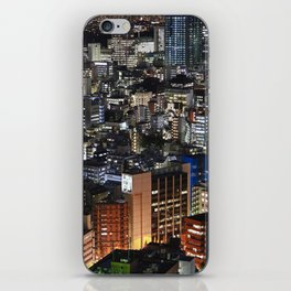 Tokyo Buildings at Night iPhone Skin