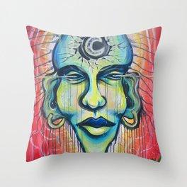 Moon God Throw Pillow