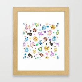 Cuties In The Stars Framed Art Print
