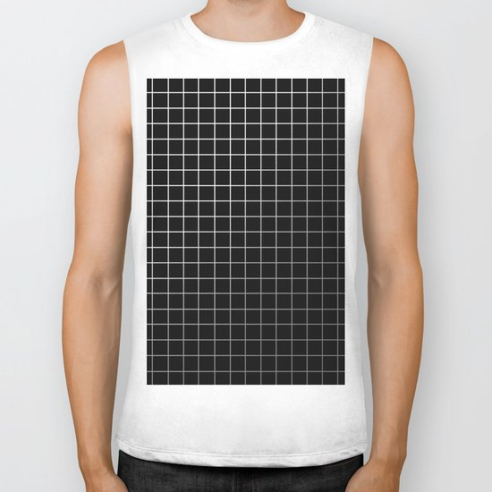 Metal Cage - Industrial, metallic grid pattern Biker Tank