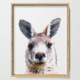Kangaroo Portrait Serving Tray