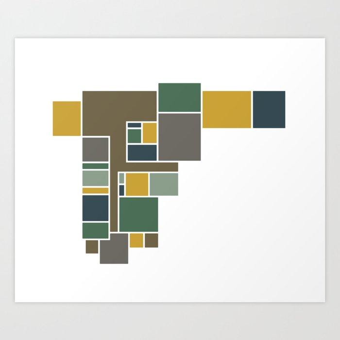 Moody Abstract Floor Plan Art Art Print By Jaymekinsey Society6