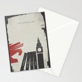 V Vendetta, alternative movie poster, graphic novel, Alan Moore, Natalie Portman, Guy Fawkes, S. Fry Stationery Cards