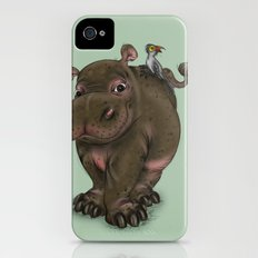 Hippo and Bird Friend iPhone (4, 4s) Slim Case