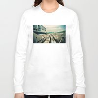 train Long Sleeve T-shirts featuring Train station by Sookie Endo