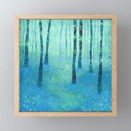 Bluebells, Challock Framed Mini Art Print