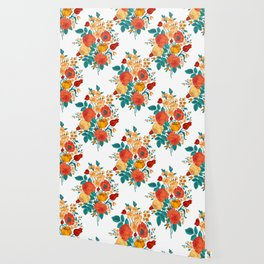 Vintage flower garden Wallpaper