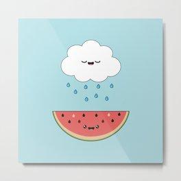 Cloud & Watermelon Metal Print