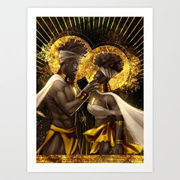 Reflection-I See You In Me Art Print