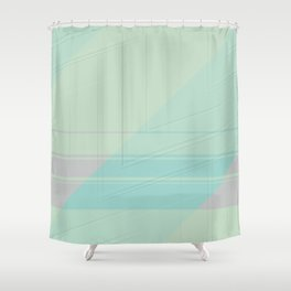 Abstract lightblue with shades of light pink Shower Curtain