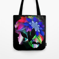 afro Tote Bags featuring Afro by SmartyArt Chick