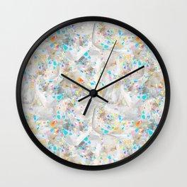 Abstract White Quartz in Rainbow Aura Wall Clock