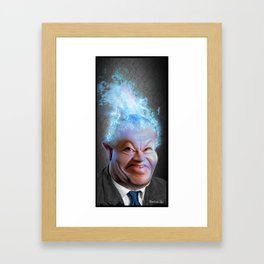 L'homme qui pense Framed Art Print