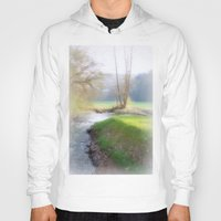 running Hoodies featuring Running Water by Laake-Photos