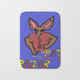 Rat with a Razor Bath Mat