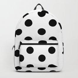 White & Black Polka Dots Backpack