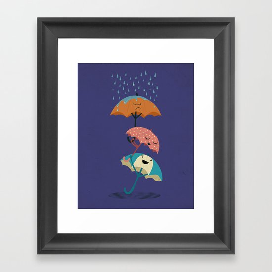 Three's a Crowd Framed Art Print