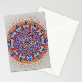 Holy Roller Glowing Boho Meditation Neo Tribal Mandala Stationery Cards