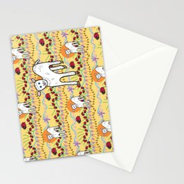 © Little Lamb with ladybugs pattern Stationery Cards