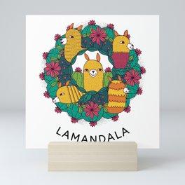 Mandala Lama colorful gift idea Mini Art Print