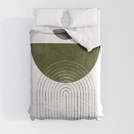 Green mid century modern Comforters