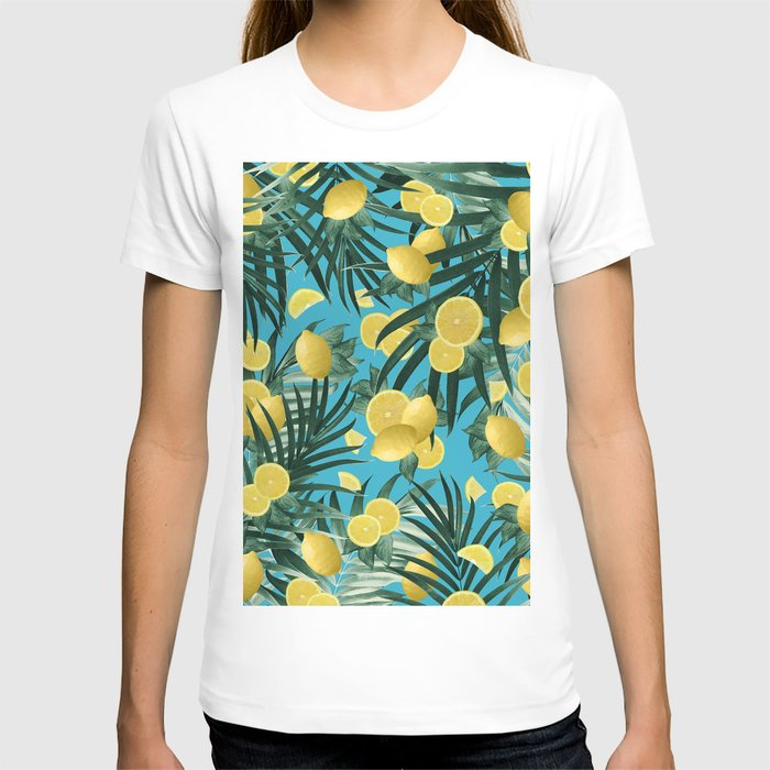 Summer Lemon Twist Jungle #4 #tropical #decor #art #society6 T-shirt