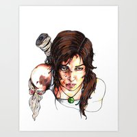 tomb raider Art Prints featuring Tomb Raider: The Survivor by Dale Dupre