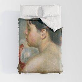 """Auguste Renoir (1841-1919) """"Dark-Haired Woman"""" Comforters"""