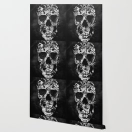 Vintage Skull BW Wallpaper