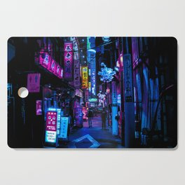 Tokyo's Moody Blue Vibes Cutting Board
