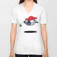 dallas V-neck T-shirts featuring DALLAS SUPERMAN by dapperdesignz