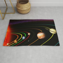Solar System, the Sun, Planets, & Kuiper Belt by Image Editor Rug