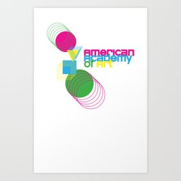 American Academy of Art Geometric Print  Art Print