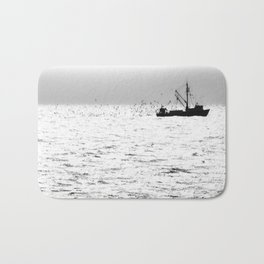 """Fishing Boat 5"" by Murray Bolesta Bath Mat"