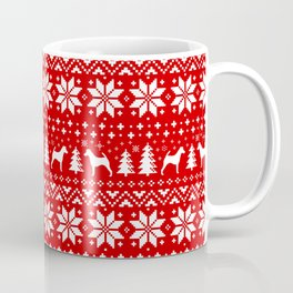 Smooth Fox Terrier Silhouettes Christmas Sweater Pattern Coffee Mug