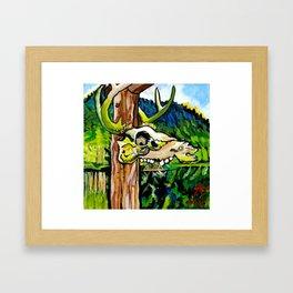 Lagoon Skull Framed Art Print