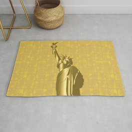 Gold Statue of Liberty on the Gold-leaf Screen Rug