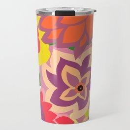 CAMBRIA, ART DECO FLORALS: TROPICANA Travel Mug