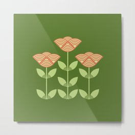 Three Japanese style flowers Metal Print