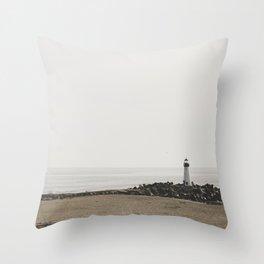 Santa Cruz Light House Throw Pillow